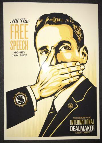 Obey Giant Screen Print Sticker Free Speech Shepard Fairey Rare Poster Banksy