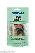 Nikwax Tech Wash Bolsa 100ML Impermeable Ropa Tiendas de campaña Mochilas