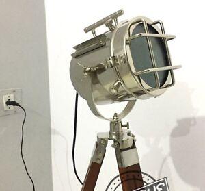 Halloween-E27-GLOBE-FLOOR-LAMP-STAND-VINTAGE-SEARCHLIGHT-ROOM-DECO-RIVET-STANDIN