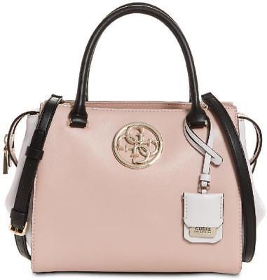 New Women's Guess Pink Black White Ryann Multi Color Satchel Purse Crossbody Bag   eBay