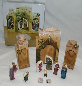 St-Nicholas-Cuadrado-12-PC-Natividad-Juego-Nuevo-Punta-Decoracion-De-Navidad