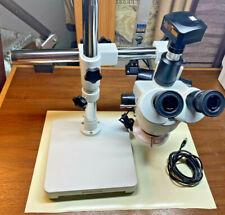 New Listingamscope 35x 90x Trinocular Led Boom Stand Stereo Microscope 5mp Camera
