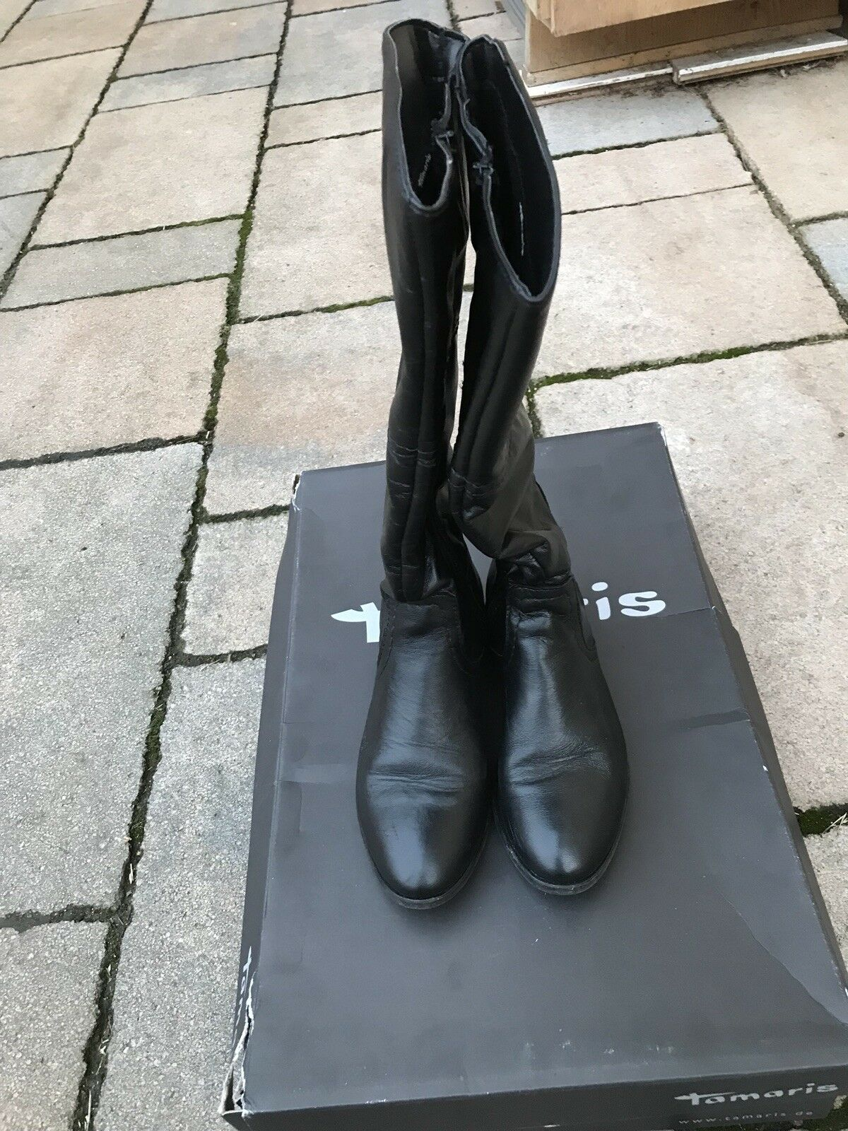 Tamaris Tamaris Tamaris Lederstiefel Damen Winterschuhe Damen Leder Größe 37 Winter Stiefel 820f66