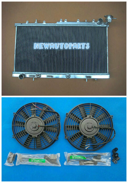 50mm Aluminum Radiator   Fans For Nissan N14 Gtir Sr20det