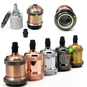 E27-ES-Alliage-d-aluminium-Edison-Titulaire-Vintage-Douille-Support-Socket-Lampe