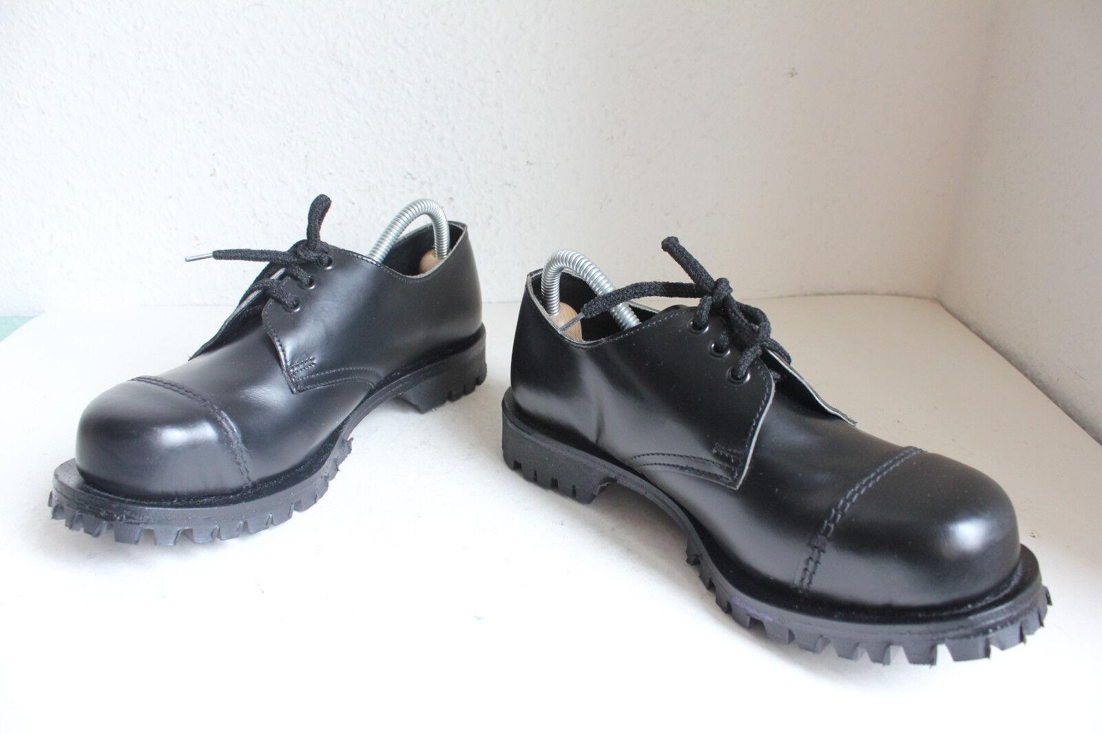 Vintage Vintage Vintage Getta Grip Safety Schuhe Echtleder Schwarz Eu:39-Uk:6 made in England 6532d0