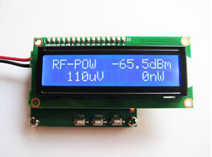 Details about RF Power Meter Range 0 1-2 4GHz Radio Frequency Power Meter  1nW~1W -65~+0 dBm
