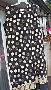 Nice-Pre-owned-Women-039-s-VOIR-Black-w-Design-Size-2X-Shift-Dress