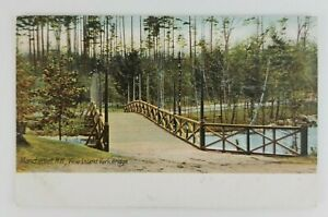 Postcard-Pine-Island-Park-Bridge-Manchester-New-Hampshire