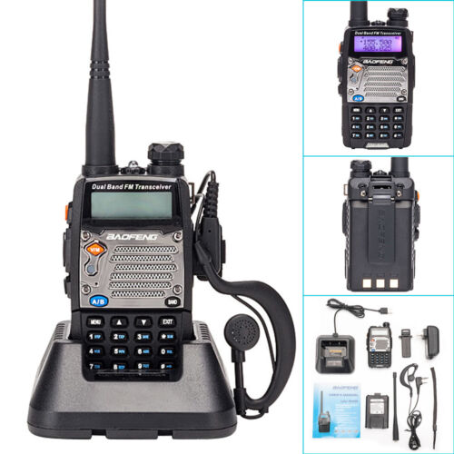 Baofeng UV-5XP V//UHF 400-520MHz Dual Band Long Range Two Way Radio Walkie Talkie