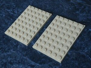 3036 Lego Plates 6x8 Dark Tan x2