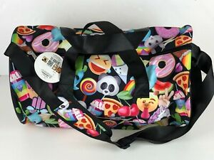 b6f1469177bb Details about Top Trenz Black Mojination Girls Emoji Duffle Bag NWT