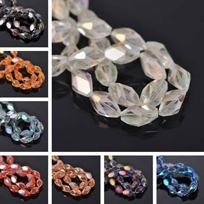 10pcs 14mm 20mm Flower Faceted Crystal Glass Loose Spacer Beads Jewelry Making