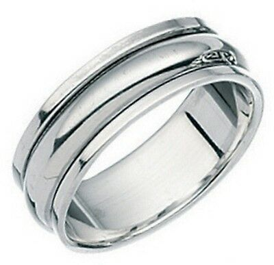 Elements 1/4oz 925 Polished Sterling Silver Slim Plain Band Spinning Stress Ring