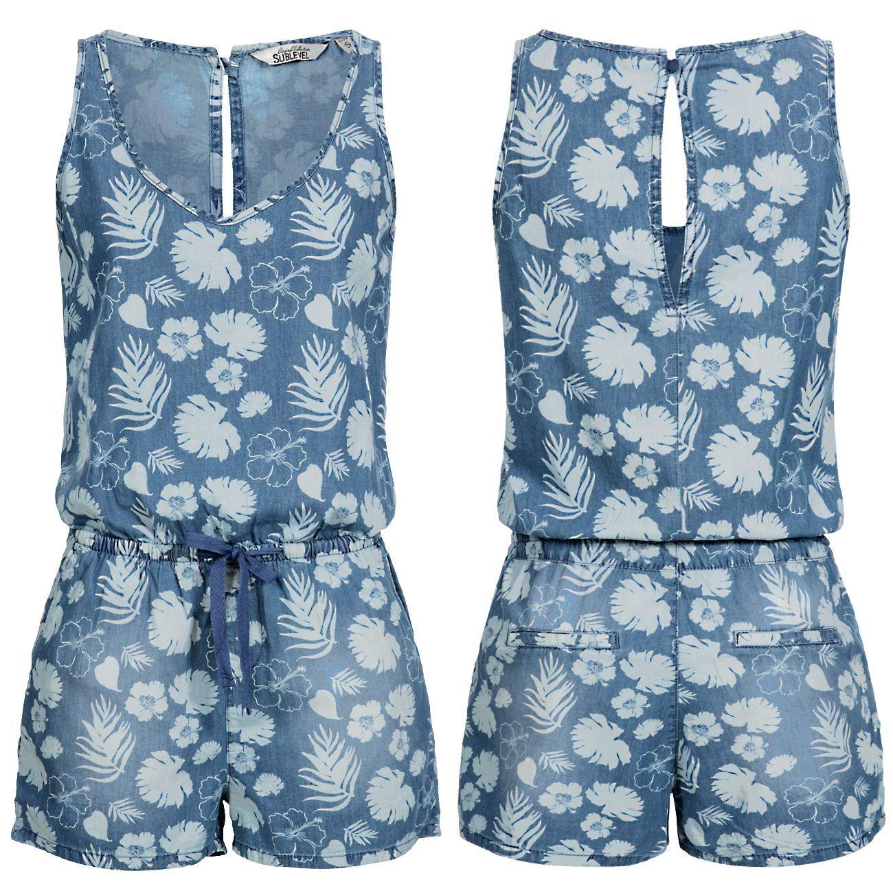 ONLY Damen Overall Jumpsuit onlCARLA PLAYSUIT Sommer weiß blau Streifen Anker