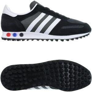 Adidas-LA-Trainer-schwarz-weis-grau-Wildleder-Mesh-Herren-Low-Top-Sneakers-NEU