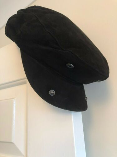 Genuine Eureka Stockade Karma Accessories Soft Black Suede 3 Panel Flat Cap