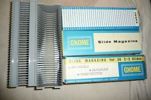 Slide-projector-tray-for-GNOME-projector-36-slides-per-tray-x-3-TRAYS-box