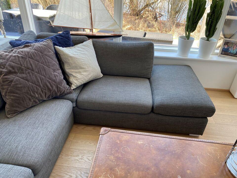 Grå velholdt sofa incl. Lexington puder