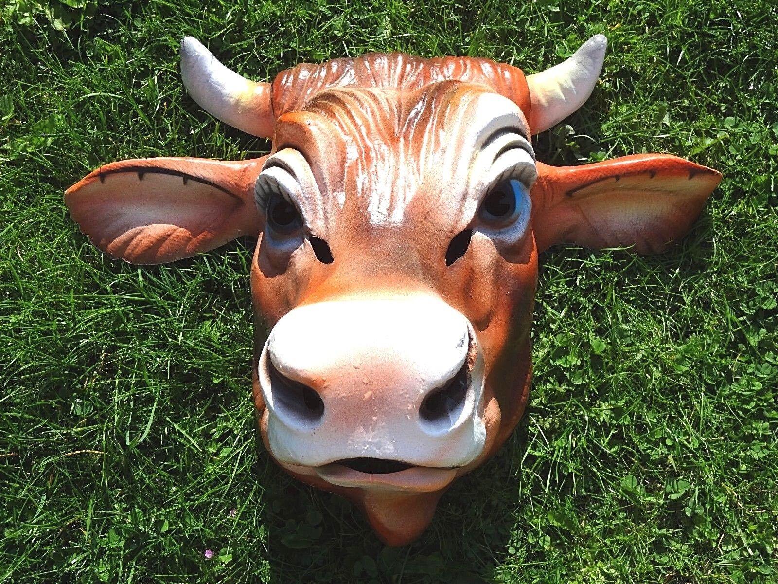 Ancien rare grand masque César  Vache voiturenaval France 1068 - années 60  approvisionnement direct des fabricants