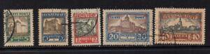 Estonia-Sc-B15-19-1927-Building-Views-charity-stamp-set-used-Free-Shipping