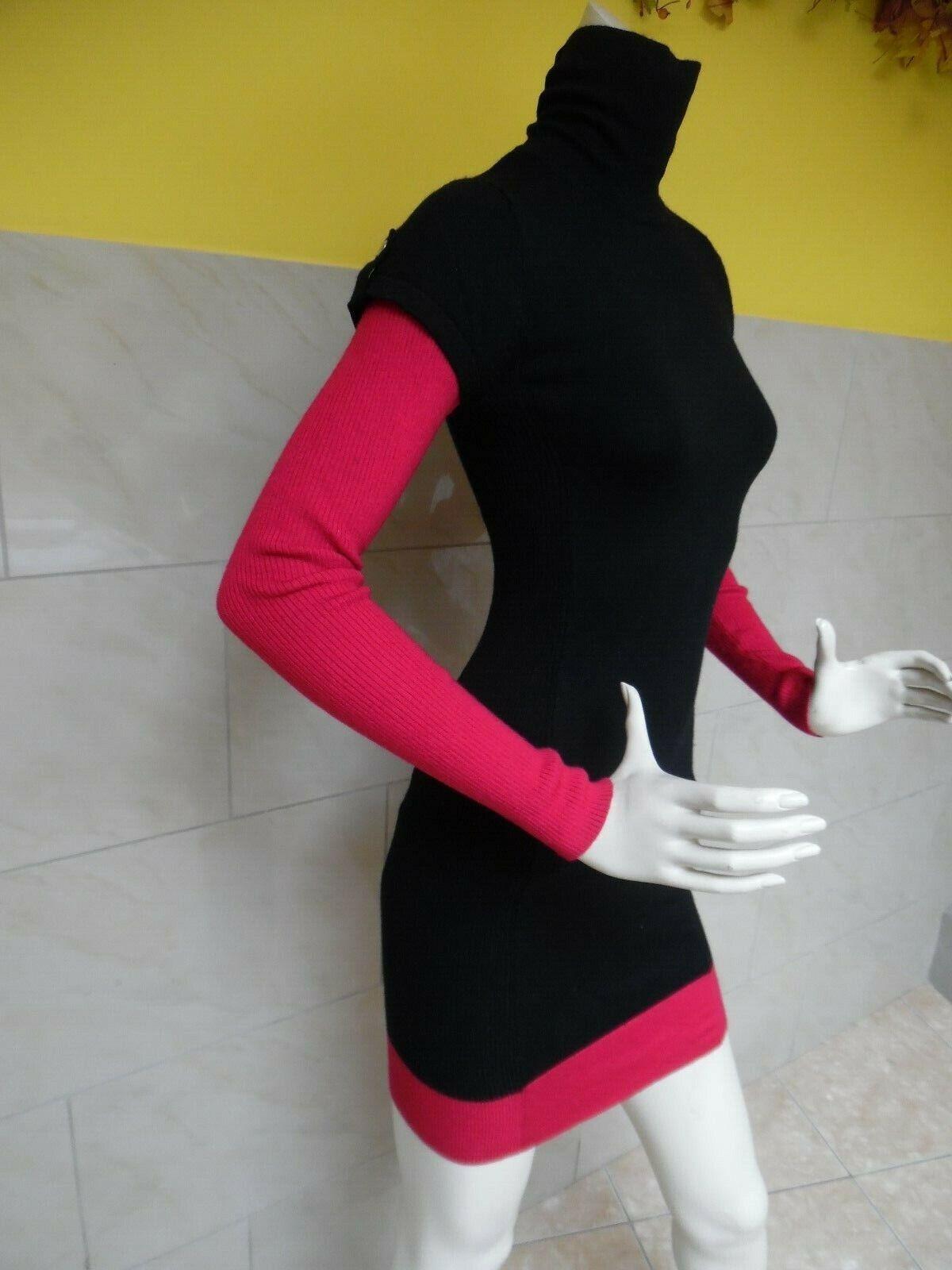 KAREN MILLEN jolie robe bicouleur 83% laine taille 1
