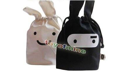 Ninja Rabbit Travel Laundry Lunch Storage Drawstring Pouch Bag Pocket 2 Colors