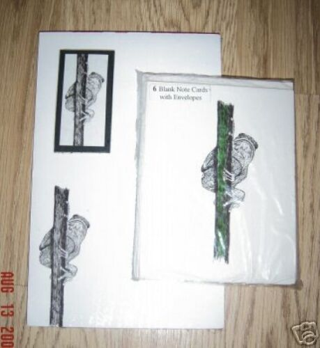 Climbing Frog 3 Piece Set-Notepad 6 Blank Notecards and Magnet