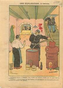 Caricature-Politique-Aristide-Briand-Gendarmes-Alambic-France-1910-ILLUSTRATION