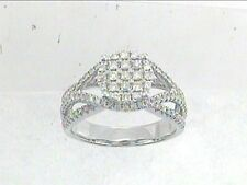 Genuine 0.69 CTW Diamond Fashion Ring in 14K White Gold - REF-71M9G Lot 6522