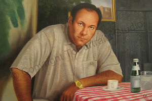 Tony-Soprano-The-Sopranos-Original-Hand-Painted-TV-Poster-Oil-Painting-Art-XL