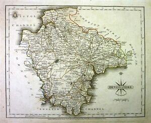 Antique-map-Devonshire