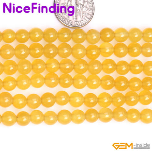 Natural Yellow Agate Onyx Loose Stone Beads Jewellery Making Free Shipping 15/""