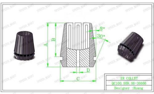 20pcs ER20 Spring Collet Chuck Tool Set CNC 1mm-13mm 1.5mm-7.5mm