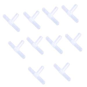 """10 pcs Plastic Tee's / """"T"""" 3-Way Aquarium Air Pump Line Tubing Joints Connectors"""