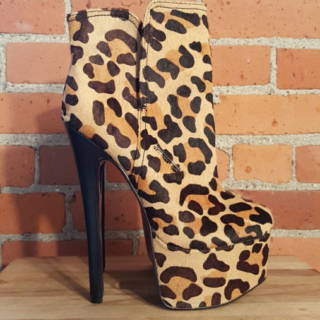 London Trash Leopard Monsta Platform Boot