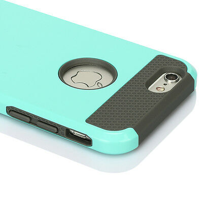 Hybrid Rubber Shockproof Hard Rugged Heavy Duty Cover Case For iPhone 6 4.7