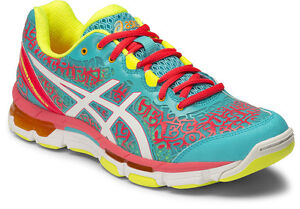 asics netburner damen orange