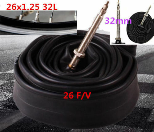 DZ1360 MTB Bicycle Cycle bike 26 Inch Inner Tube F//V 26x1.25 Presta Valve 32mm ♫