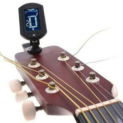 LCD Clip-on Electronic Digital Guitar Chromatic Violin Instrument Ukulele Tuner