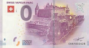 A 2017-1 Billet 0 Euro Souvenir - Ch Af - Suisse Swiss Vapeur Parc Locomotive Soyez Astucieux Dans Les Questions D'Argent