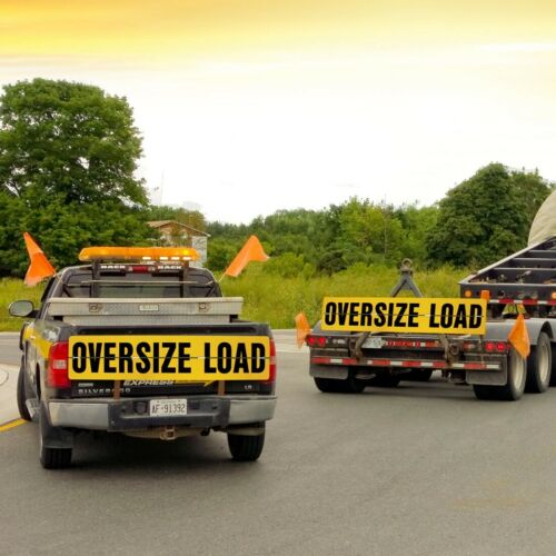 """VULCAN Hinged Aluminum Oversize Load Sign for Escort Vehicles 12/"""" x 60/"""""""