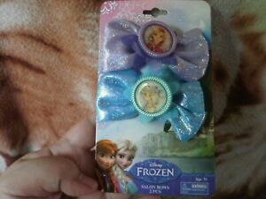 CLOSEOUT-SALE-Imported-From-USA-9-99-Disney-Frozen-2-Pcs-Salon-Bows-1