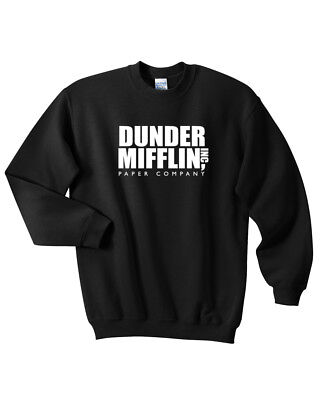 WENFUMEI Dunder Mifflin Letter Print Crew Neck Hoodie Long Sleeve Cotton Women Sweatshirt