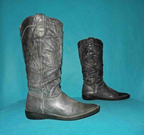 Boots Kickers Leather Anthracite P 39 Fr