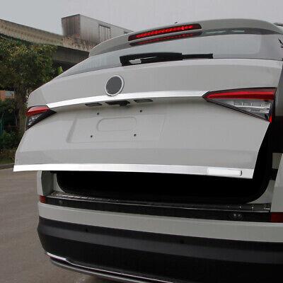 Steel Rear Tailgate Door Trunk Lid Cover Trim 1pcs For Skoda Kodiaq 2016-2018
