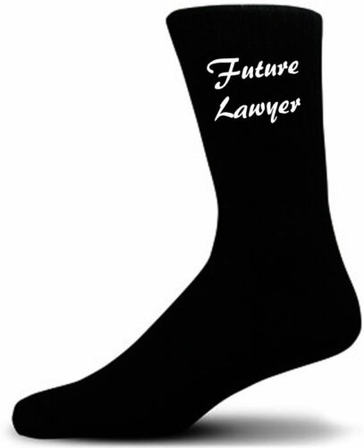 Future Lawyer Black Novelty Socks  ….Luxury Cotton Novelty Socks