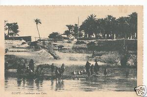 Egypt-Postcard-Landscape-Near-Cairo-X378