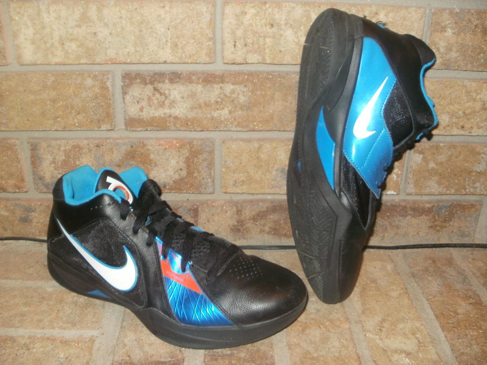 Nike Zoom KD 3/K Durant 10.5 /Black-White-Blue-Orange (OKC Away) 417279-001 Rare