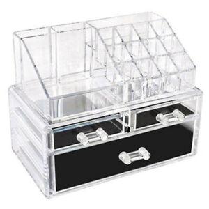 Espositore Organizer Porta Trucco Box Portagioie Cosmetici 3 Cassetti Art. 10256